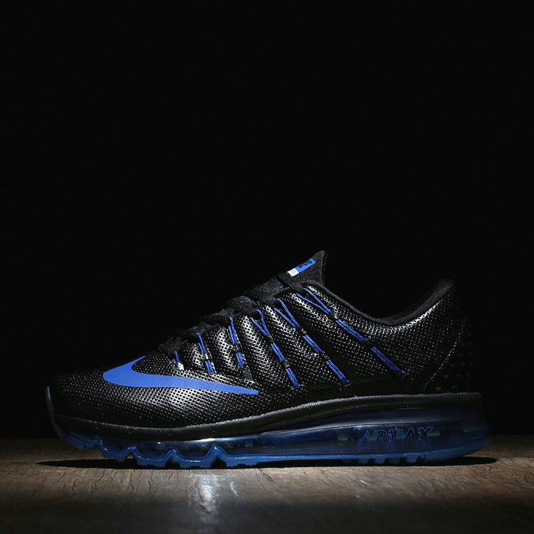 Womens Air Max Cheap Wholesale Air Max 2016 Leather Black Royal Blue