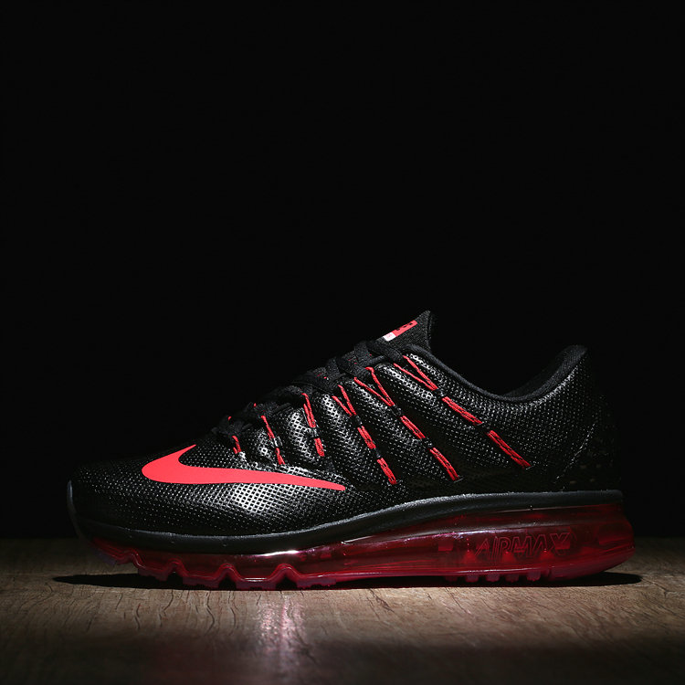 Womens Air Max Cheap Wholesale Air Max 2016 Leather Fire Red Black