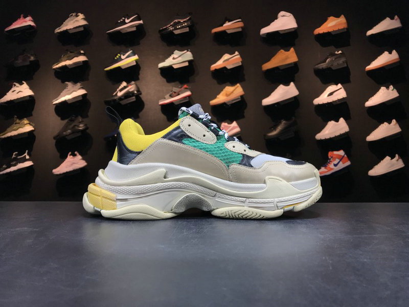 Womens Balenciaga Tripe-S 17FW Green Yellow Grey Black Cheap Wholesale Sale
