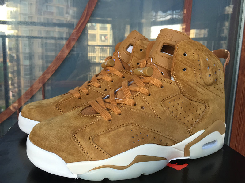 Womens Jordan Sneakers Cheap Wholesale Nike Air Jordan 6 Wheat