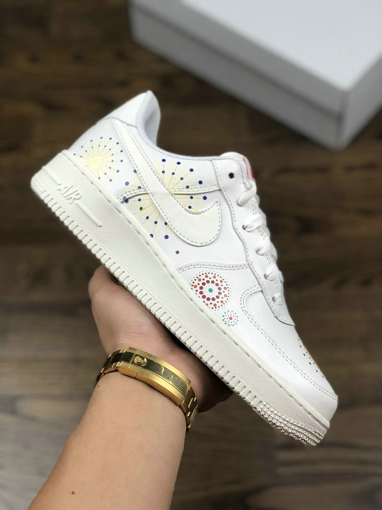 721f6d7409b0 Wholesale Womens NIKE AIR FORCE 1 PINNACLE LNY White Rice Yellow ...