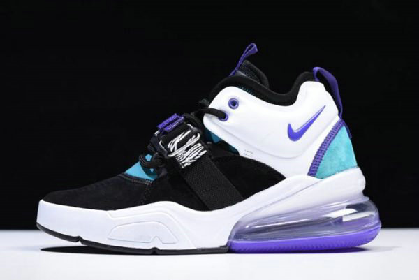 Cheap Wholesale Womens Nike Air Force 270 Carnivore Black Court Purple-Dark Atomic Teal AH6772-005