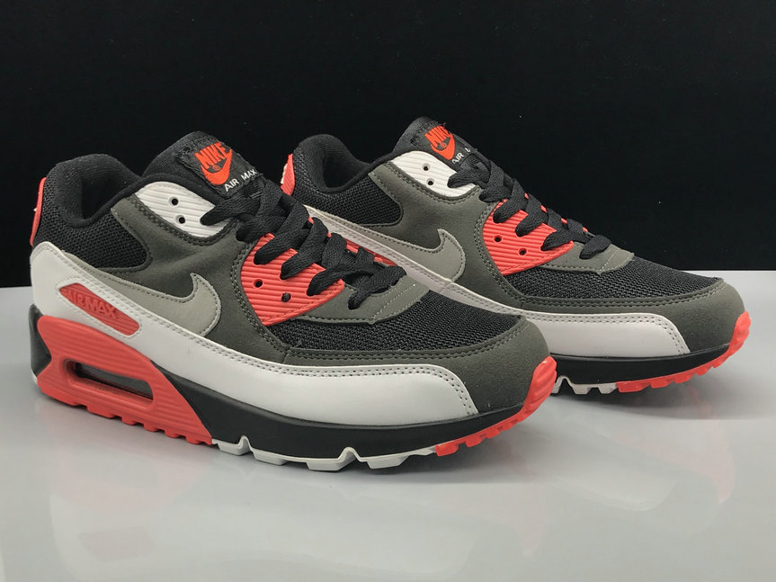 Wholesale Womens Nike Air Max 90 Classic Grey Black White Red