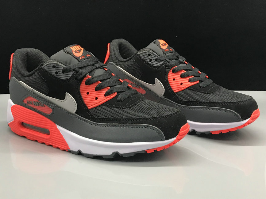 Wholesale Womens Nike Air Max 90 Classic Red Black Grey White