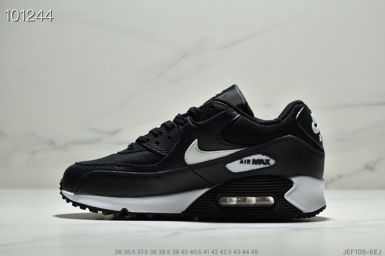 Wholesale Womens Nike Air Max 90 Essential Black Mint Candy-Dark Grey 537384-030