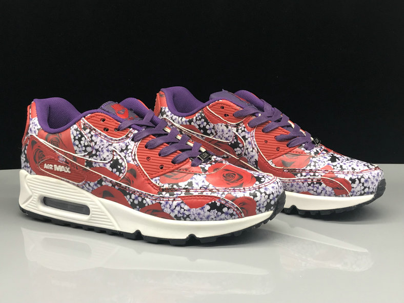 Wholesale Womens Nike Air Max 90s Classic Purple Red White