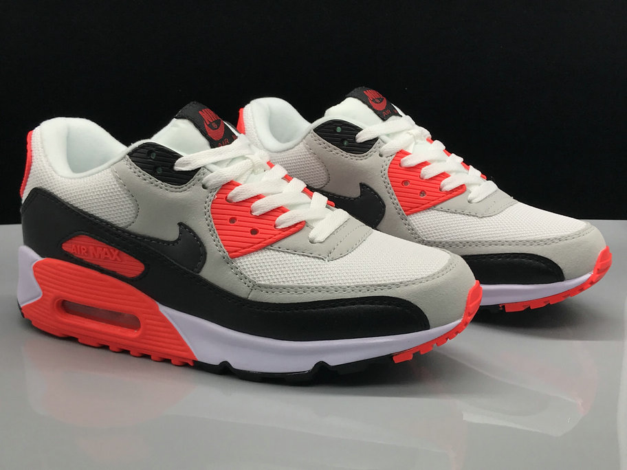 Wholesale Womens Nike Air Max 90s Classic Red Grey White Black