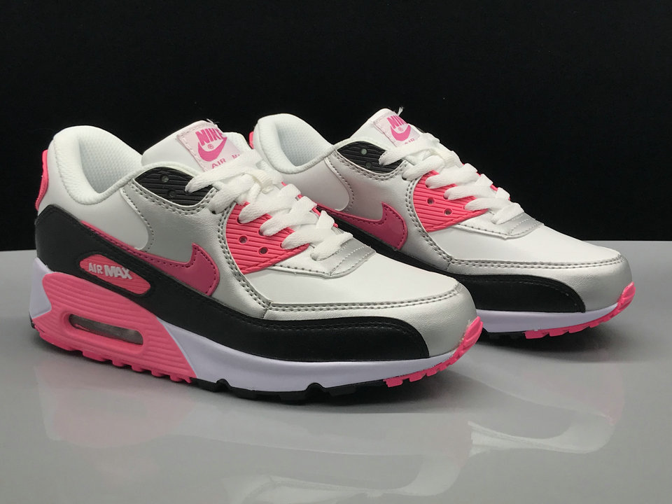 Wholesale Womens Nike Air Max 90s Classic White Silver Grey Pink Black