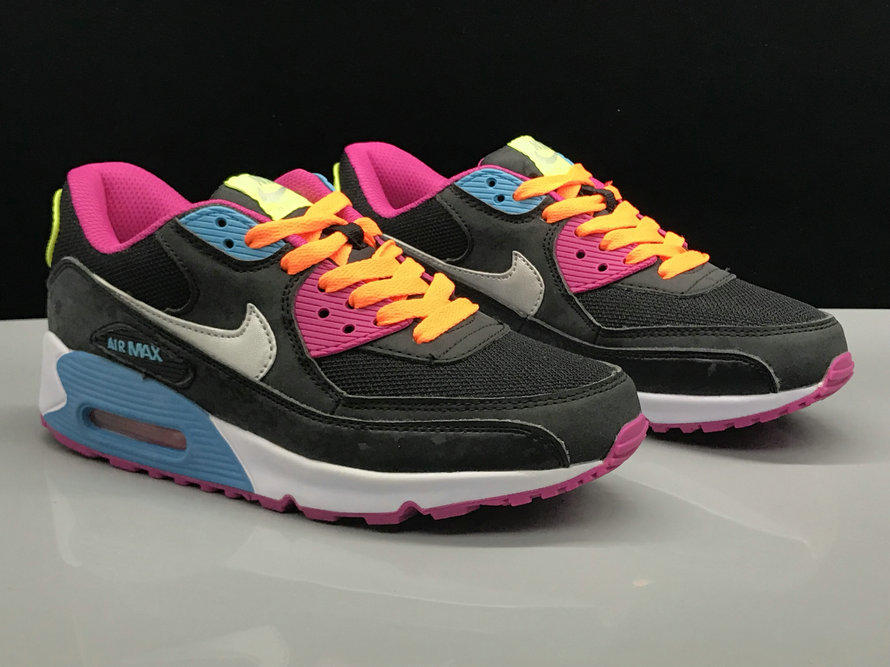 Wholesale Womens Nike Air Max 90s Classic Yellow Pink Black White
