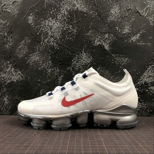 Cheap Wholesale Womens Nike Air VaporMax 2019 AR6632-006 White Red Blanc Rouge
