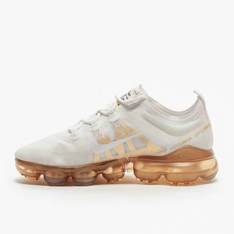 Wholesale Womens Nike Air VaporMax 2019 Premium White White-Metallic Gold AR6632-101