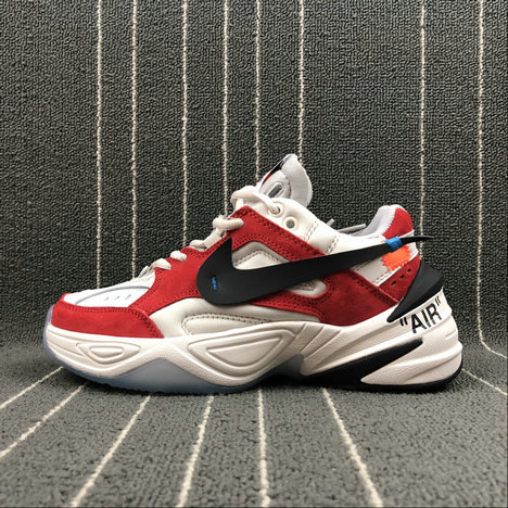 Wholesale Womens Nike M2K Tekno x Off White AO3108-800 Phantome Oli Grey Matte Silver Fantome Griys Petrole
