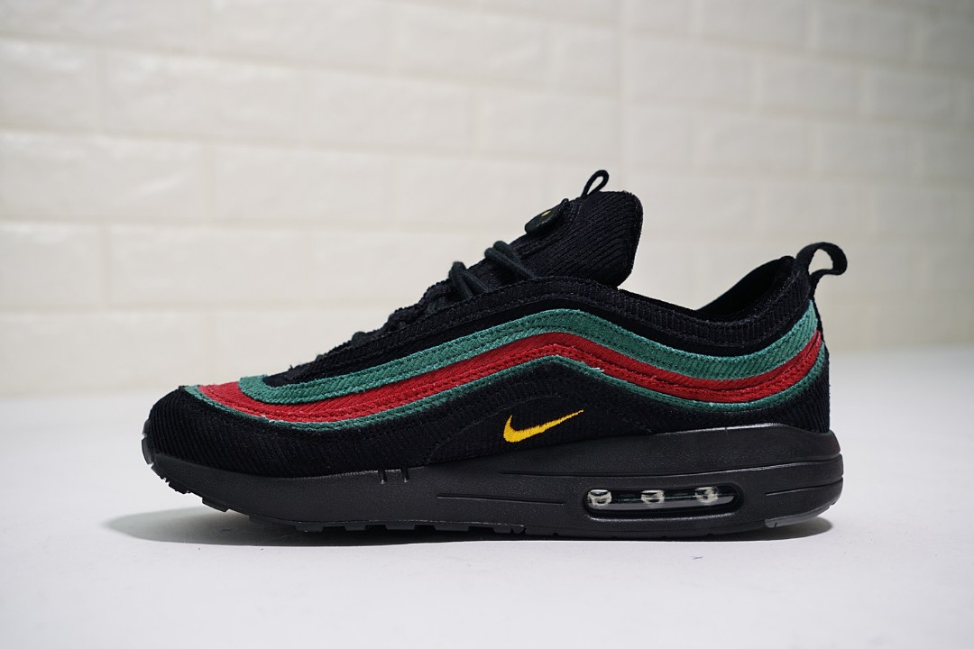 Wholesale Womens Original Sean Wotherspoon X Nike Airmax 87 Black Green