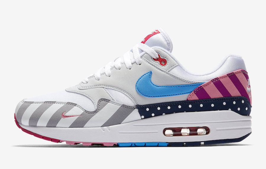 Wholesale Womens Parra x Nike Air Max 1 White-Pure Platinum AT3057-100
