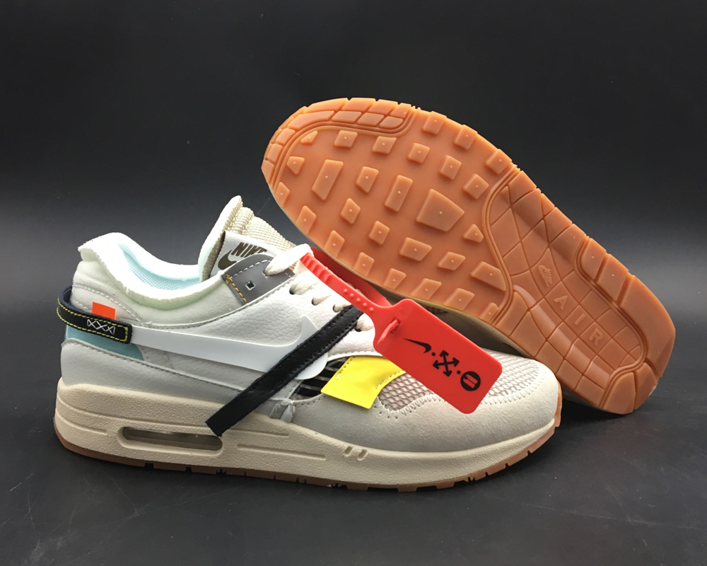 Wholesale Womens Virgil Abloh x BespokeIND x Off-White X Nike Air Max 1s White 2018