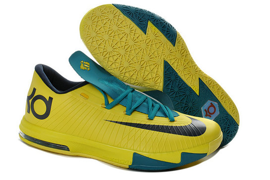 Yellow Blue Black Nike Kevin Durant 6 For Kids