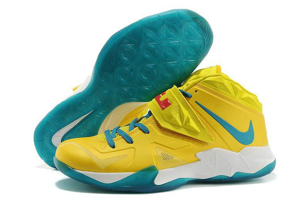 Yellow Blue White Nike Zoom Soldier 7