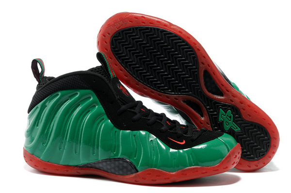 Cheap Wholesale nike air foamposite pro green red black