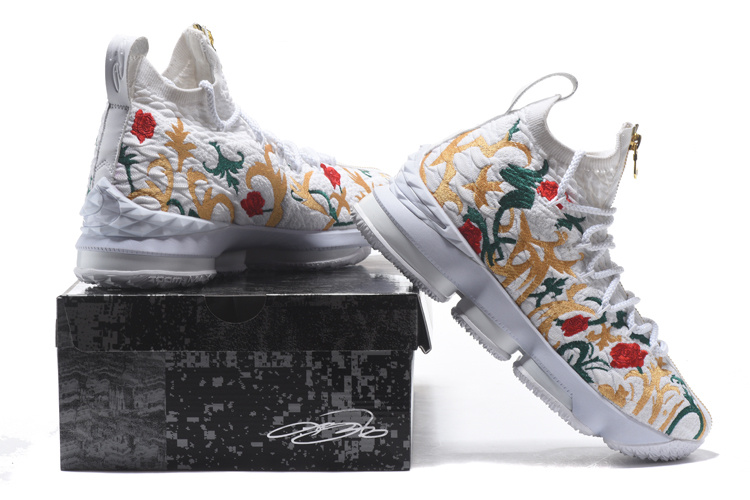 2017 Cheap Wholesale KITH x Nike LeBron 15 Floral White For Sale