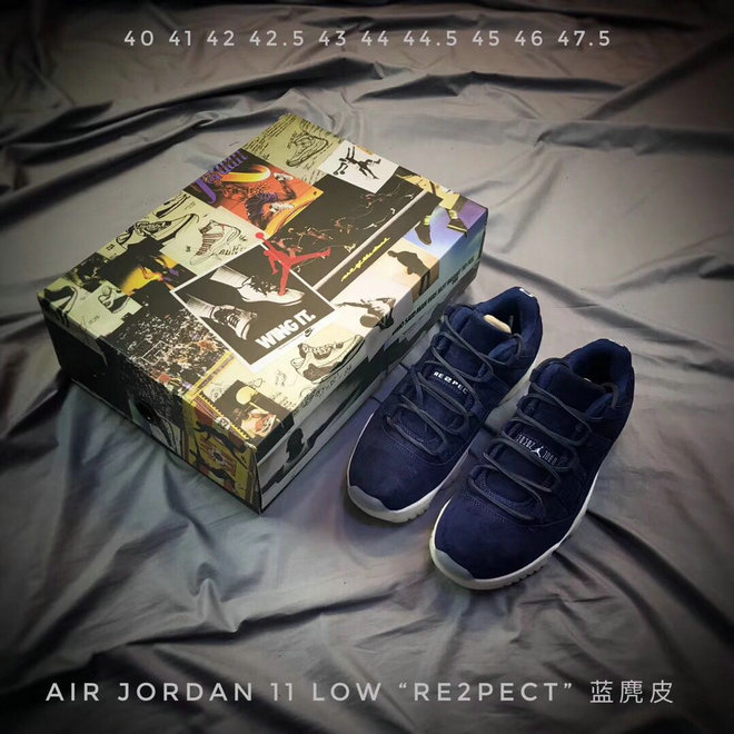 2018 Cheap Air Jordans Retro 11 Low RE2PECT Royal Blue