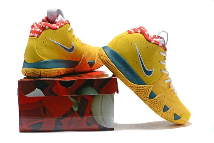 3d1c796c7802 ... Cheap Wholesale Nike Kyrie Shoes x Cheap Wholesale Nike Kyrie 4 Yellow  Lobster