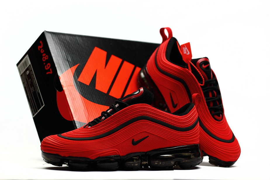 308cab3568 2018 New Arrival Nike Air VaporMax 97 University Red Black - China ...