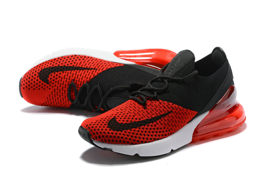 2018 Nike Air Max 270 Flyknit Mens University Red Black