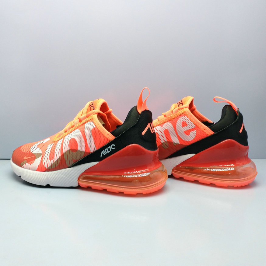 wholesale dealer 8c3bf 9fa62 2018 Nike Air Max 270 Supreme Orange Red Mens Cheap ...