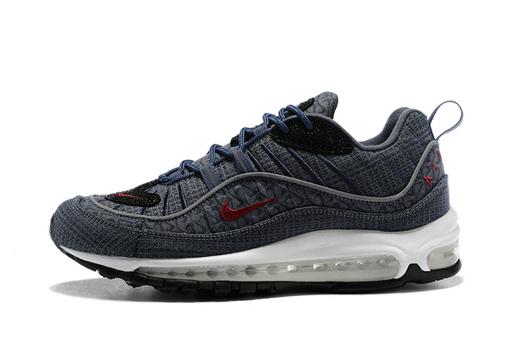 the best attitude 1acb2 b2737 ... 2018 Nike Air Max 98 Colorways Grey Red Blue Black Cheap Wholesale Sale  ...