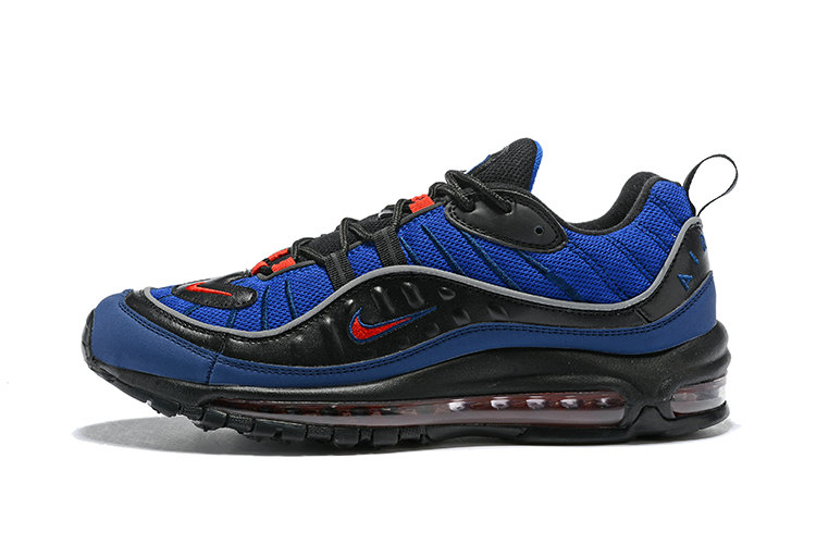 new concept 81f34 f8a9f ... 2018 Nike Air Max 98 Colorways Navy Blue Red Black Cheap Wholesale Sale  ...