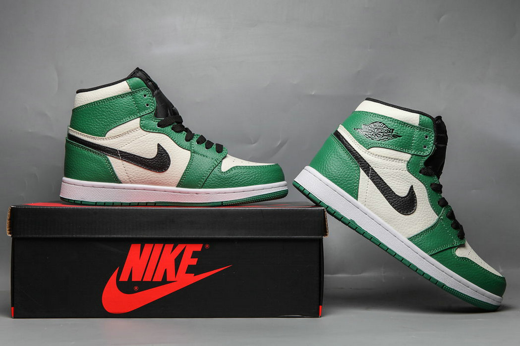 Wholesale 2019 Cheap Nike Air Jordan 1 MID SE PINEGREEN BLACK SAIL