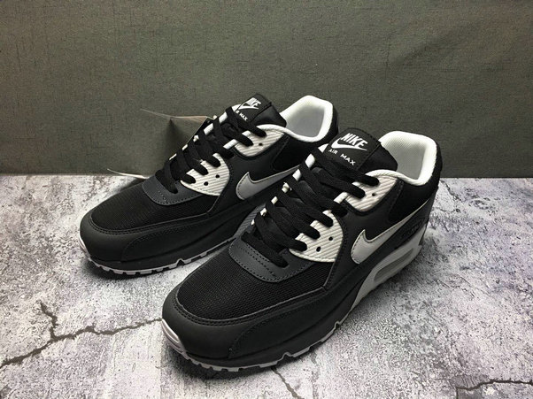 2020 Wholesale Cheap Nike Air Max 90 Essential Anthracite White 537384-089