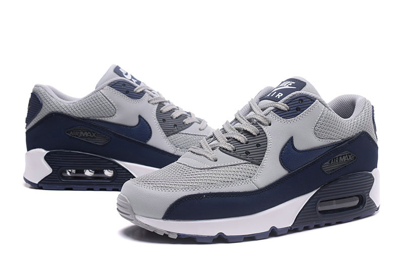 2020 Wholesale Cheap Nike Air Max 90 Wolf Grey Binary Blue 537384-064