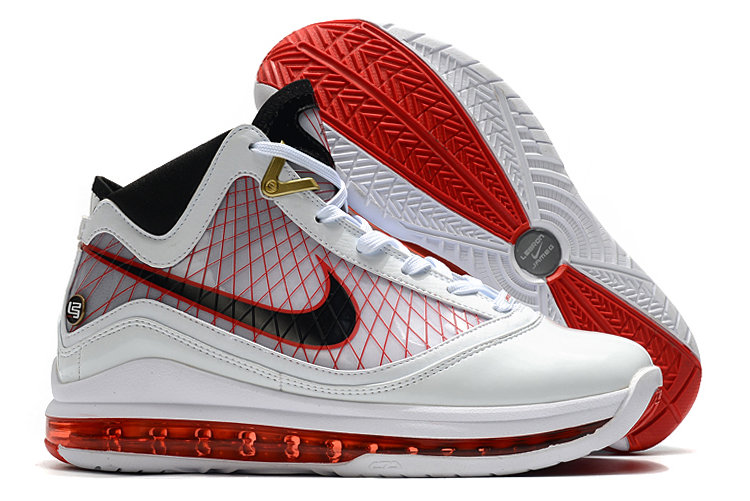 Where To Buy 2020 Nike LeBron 7 White Red-Black For Sale