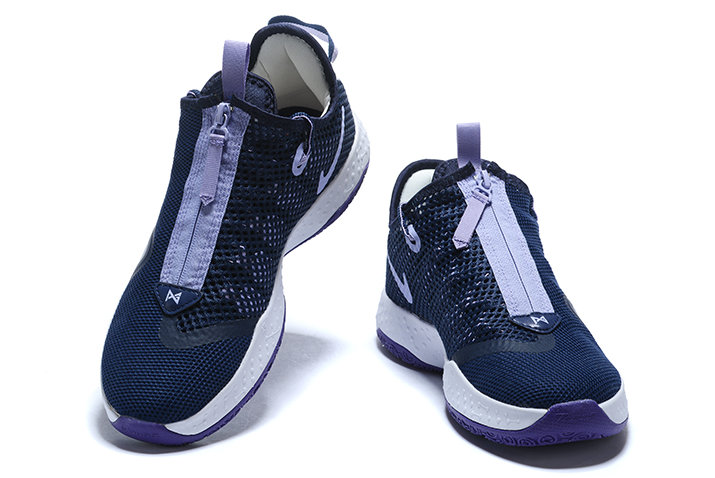 Where To Buy 2020 Nike PG 4 Navy Blue White-Purple For Sale
