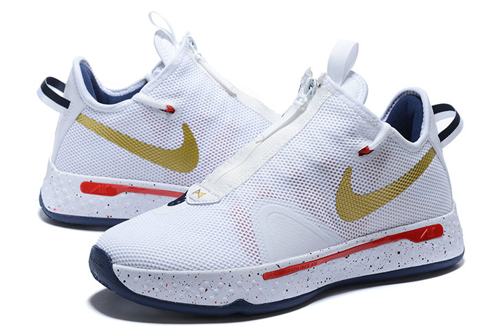 Where To Buy 2020 Nike PG 4 USA White Midnight Navy-Gold