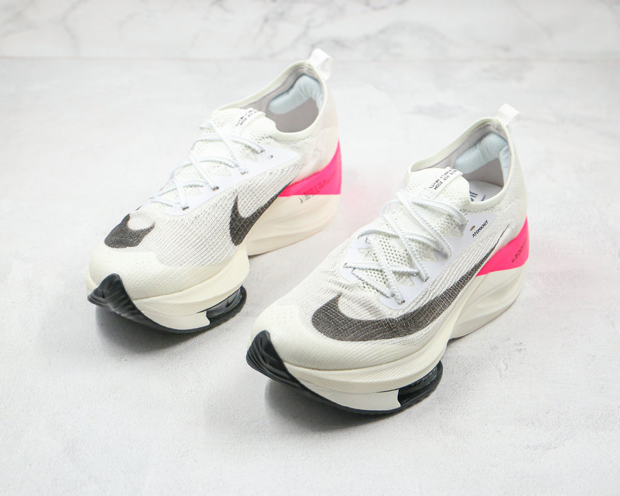 2020 Womens Cheapest Nike Air Zoom Alphafly NEXT White Black Pink CI9925-600