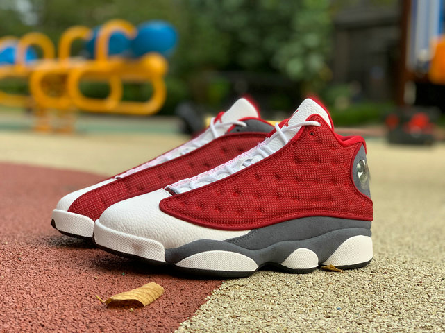 2021 Where To Buy Cheap Wholesale Nike Air Jordan 13 Gym Red Flint Grey-White-Black 414571-600