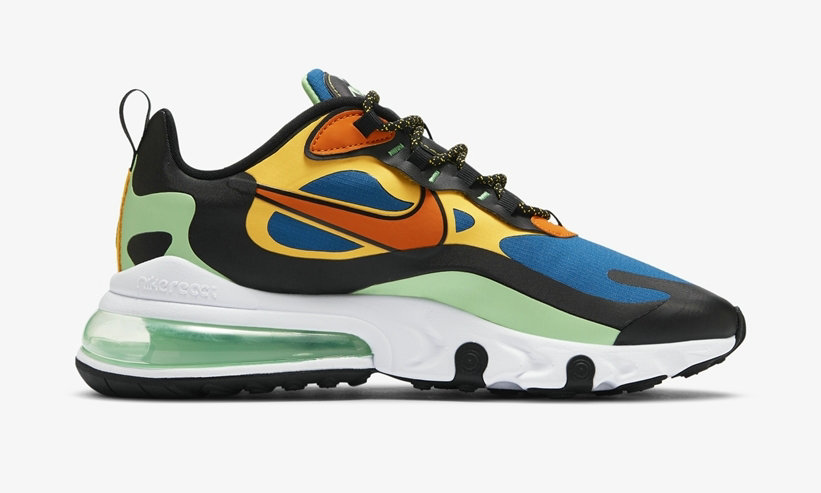 2021 Where To Buy Cheap Nike Air Max 270 React Green Abyss Laser Orange CZ7869-300