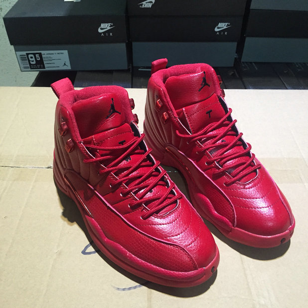 c6baa6dace2 ... Cheap Wholesale Air Jordan 12 Bulls Gym Red-Gym Red-Black 130690-601 ...