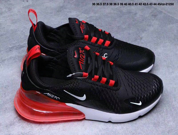 df18b3dac82b ... Air Max Cheap Wholesale x Nike Air Max 270 Black Gym Red-White ...