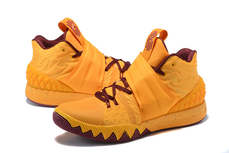 Cheap Wholesale Kyrie Irving Nike Kyrie S1Hybrid Yellow Deep Red