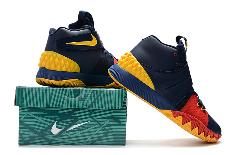 Cheap Wholesale Kyrie Irving Nike SIHYBRID Navy Blue Red Yellow