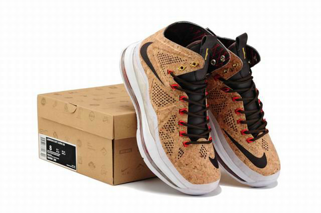 Cheap Wholesale Lebron 10 Cork Brown Suede