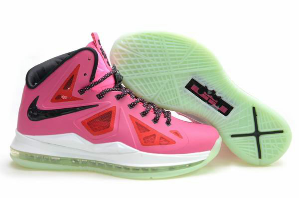 Cheap Wholesale Lebron 10 Womens Pink Black