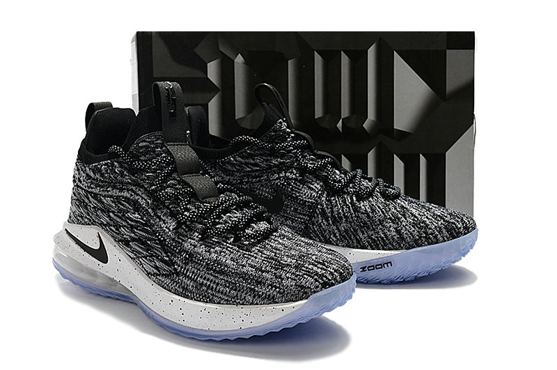 f09356dc323 Cheap Lebrons Nike Lebron 15 Low Wolf Grey Black White - China ...
