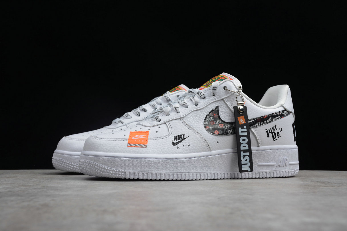 hot sale online e0499 9b57a ... Wholesale Cheap Nike Air Force 1 AR7719-100 Just DO It White Orange ...