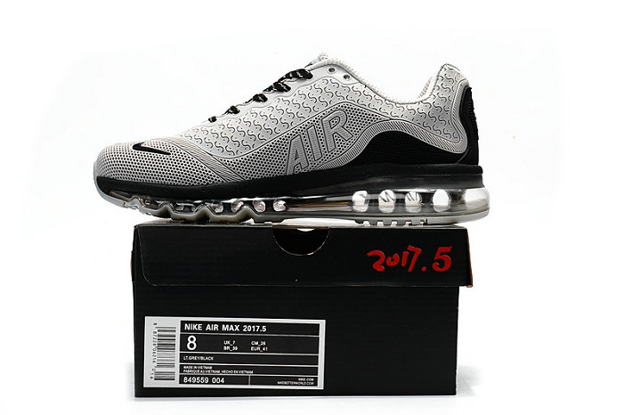 Cheap Wholesale Nike Air Max 2017 Mens Rubber Patch Grey Black