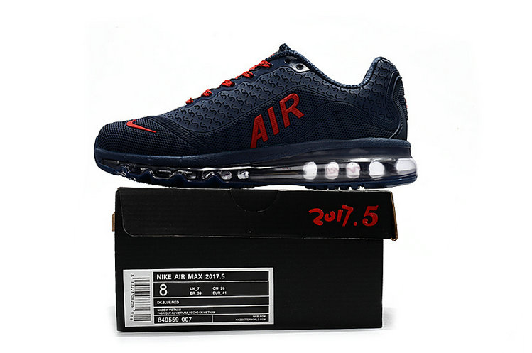 Cheap Wholesale Nike Air Max 2017 Mens Rubber Patch Navy Blue Red