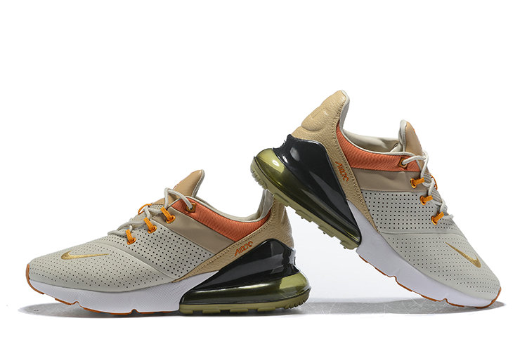 Wholesale Cheap Nike Air Max 270 Leather Gold Cream